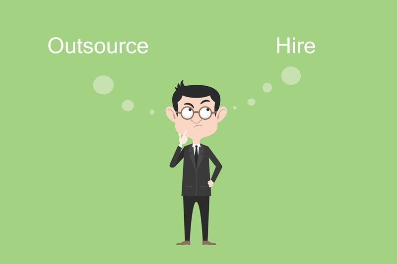 outsourcing vs hiring